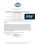 Farm and Retail Prices in the South African Poultry Industry- Do the Twain Meet?
