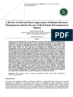 Approaches of Human Resource Management and the Success of Real Estate 2