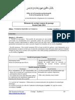 Corrige Examen de Passage Commerce Tsc 2014 Synthese 1