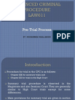 LAW611 Pre-Trial Process
