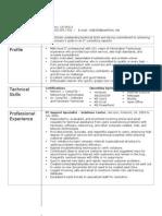 Modular IT Resume