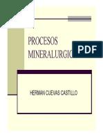 Proceso Mineralurgico Unidad III Molienda Clasificacion