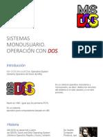 Sistemas Monousuario Operación Con DOS