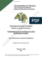 Convergencia de Los Salarios en El Peru