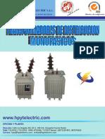 Catalogo de Transformadores Distribucion Monofasicos