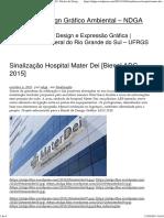 Sinalização Hospital Mater Dei [Bienal ADG 2015]