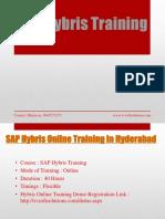 SAP Hybris Online Training