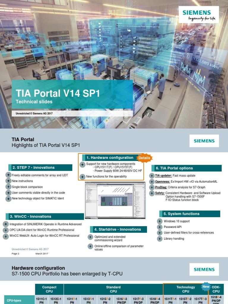 Siemens TIA Portal V14 SP1 en-1 | Windows 10 | Online And Offline