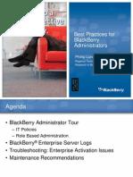 Best Practices for Blackberry Administrators