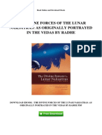 The Divine Forces of the Lunar Naksatras as Originally Portrayed in the Vedas by Radhe