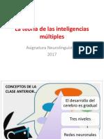 (5)La teoría de las inteligencias múltiples