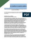 La ciencia de modificar la opinión pública