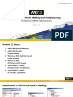 Intro Expl Dyn 17.0 M03 ANSYS Meshing and Postprocessing
