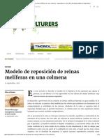 Modelo de Reposición de Reinas Melíferas en Una Colmena – Agriculturers