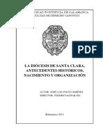 La diocesis de Santa Clara, antecedentes históricos, nacimiento y organización