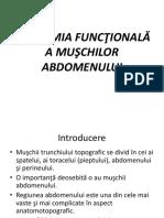 Anotamia Functionala a Muschilor Abdomenali