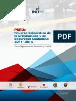 Libro Anuario Estadistico Del Crimen Lima Peru