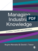 [Ikujiro Nonaka, David J Teece] Managing Industrial Knowledge