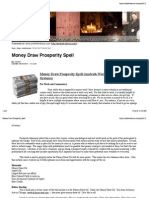 Money Draw Prosperity Spell