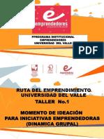 Ppt Taller Ideación Ruta de emprendimiento Univalle2017