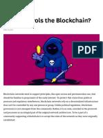Who Controls the Blockchain