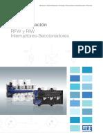 WEG Rfw y Riw Interruptores Seccionadores 50059253 Catalogo Espanol