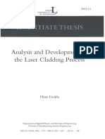 Analysis and Development of the Laser Cladding Process