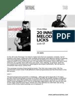 20 Innovative Melodic Rock Licks