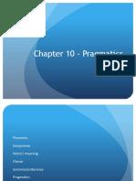 1- Pragmatics