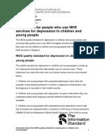 Guia en Inglés sobre depresión infantil