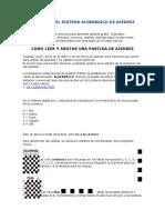 Curso Del Sistema Algebraico de Ajedrez