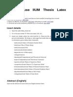 User Manual IIUM Thesis Latex Template
