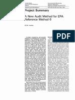 A New Audit Method for Epa Referencer Method 6