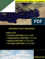 2do Viaje de Pablo Filipos Tesalónica Berea y Athenas