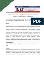 Generos Discursivos e Sequencias Didaticas Na Formacao Docente Inicial de Lingua Estrangeira