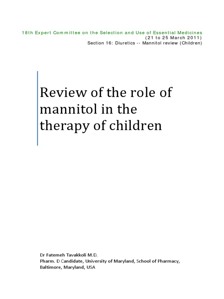 Mannitol Reviews
