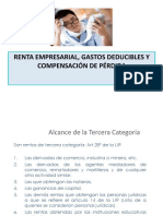 Renta Empresarial, Gastos Deducibles y Compensación de Pérdida2