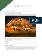 Ejemplo de Análisis FODA de Un Restaurant