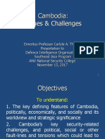 Thayer, Cambodia Issues & Challenges