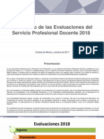 Calendario de las Evaluaciones del Servicio Profesional Docente 2018