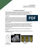 Propiedades Mineralógicas - Geo General 2017.2