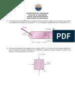 Taller 3 de resistencia de materiales (propuesto)