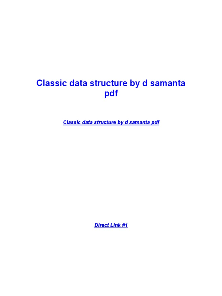 Classic Data Structures By D.samanta Pdf