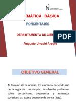 PORCENTAJES- matemática básica