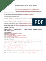 Gabarito Revisão Recuperação Ciências (Carmen 7ºano)
