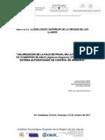 VALORIZACION DE LA PAJA DE FRIJOL EN LA PRODUCCION DE CHAMPIÑON BLANCO (Agaricus bisporus) UTILIZANDO UN SISTEMA AUTOMATIZADO DE CONTROL DE AMBIENTE