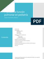 Pruebas de Función Pulmonar en Pediatría