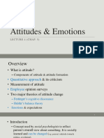 5. Attitudes & Emotions (Lec. 4, Chap. 5) 2