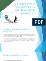 Unidad 1 Conceptos y Definiciones en La Administración. Clases