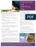 Osteosarcoma and End Of Life Care